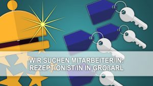 Rezeptionist/in gesucht!