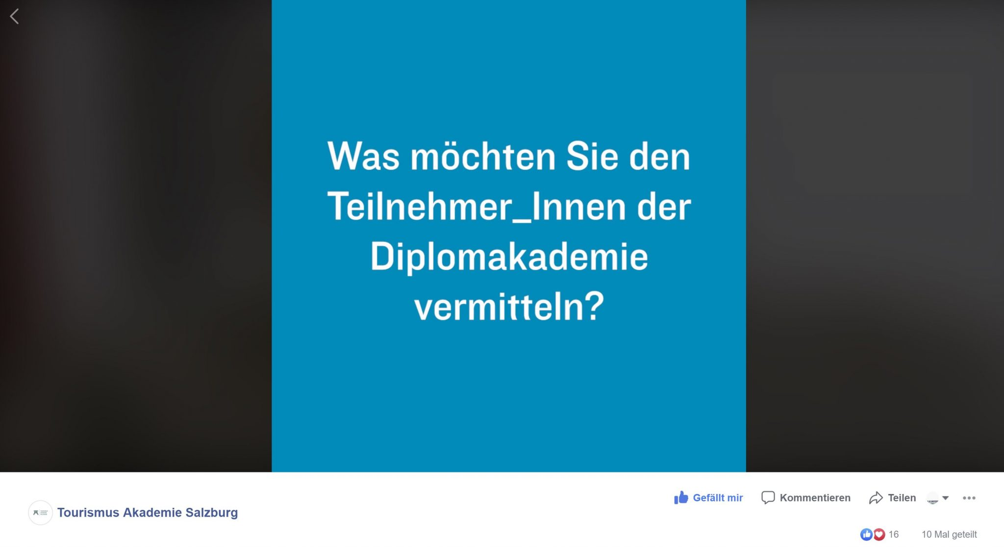 Video Tourismus Akademie Salzburg